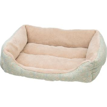 Petco Seafoam & Tan Box Lounger Cat Bed