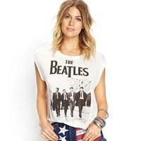 NEW fashion women t-shirts Famous band THE BEATLES ed women tops PUNK t-shirts cotton brand white t-shirts
