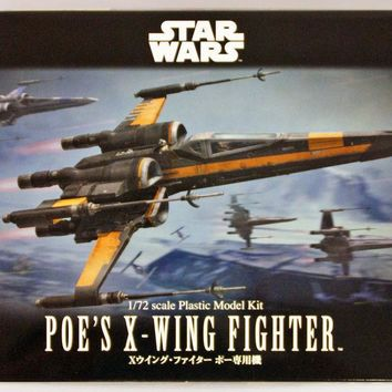 Star Wars The Force Awakens 1/72 Scale Poe's X-Wing Starfighter Model Kit USA