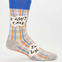I Don't Care, I'm High Men's Socks
