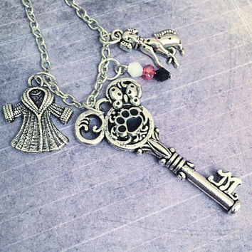 Villain Key Necklace - Fairytale Jewelry - Once Upon A Time Jewelry - Villain Jewelry - Dalmations Jewelry