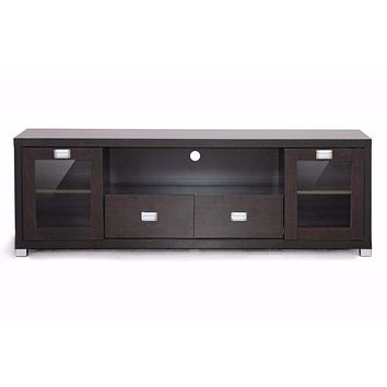 Gosford Brown Wood Modern TV Stand By Baxton Studio
