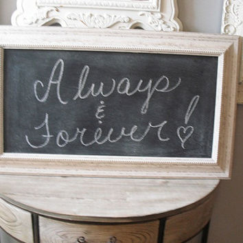 Large Cottage CHIC Bead board Chalk board Wedding Sign Rustic White
