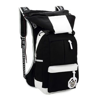 Fashion Canvas Pu Patchwork Removeable Backpack