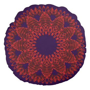 Digital Pattern Round Pillow