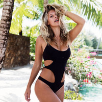 Black Bikini Top Sexy Women's Swimwear One Piece Swimsuit Monokini Push Up Padded Bikini Bathing Women's Swim Swimming Biquini
