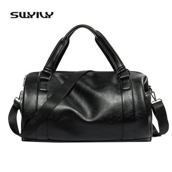 ICIK7N3 2017 New 20-25 Litre Top PU Leather Men's Sports Bags Gym Bags Classic Sports HandBag Fitness Travel Bags Workout Shoulder Bag