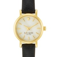 kate spade new york 'tiny metro' leather strap watch, 20mm | Nordstrom