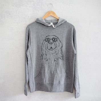 Boomer - Newfoundland - Grey French Terry Hooded Sweatshirt