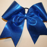 Shiny Royal Blue Cheer Bow