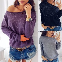 Long Sleeve Tee Round-neck Women's Fashion T-shirts