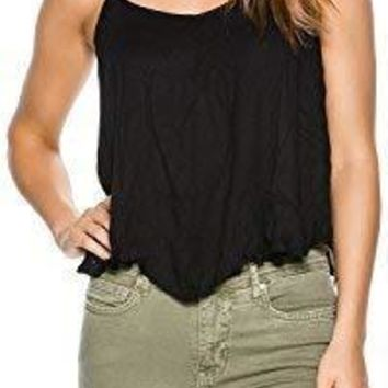 Free People New Women's Crossroads Cami Rayon Black