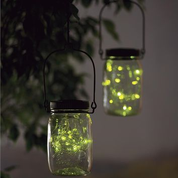 Solar Firefly Jar Decorative Outdoor Light | Solar Accents