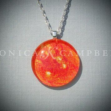 Sun Pendant Necklace On Interchangeable Chain by monicaKcampbell