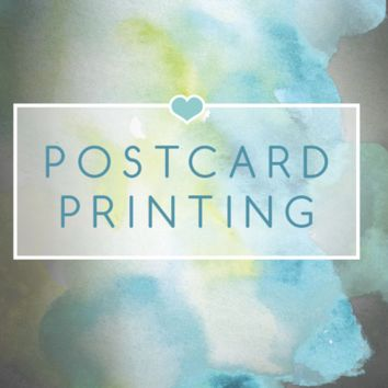 100 Postcard Printing (100lb Matte Stock) Including Shipping