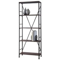 Mixed Material 4 Shelf Bookcase - Brown - Threshold™