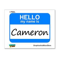 Cameron Hello My Name Is Sticker