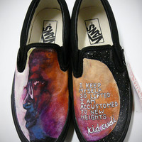 Hand Painted Kid Cudi Custom Vans Shoes