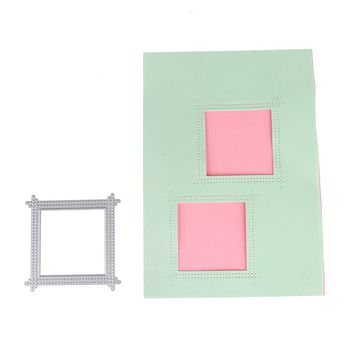 70*70mm Customized Square Frame Metal Stencil Metal Cutting Dies Cut Practice Hands-on DIY Scrapbooking Album Craft dies Tool