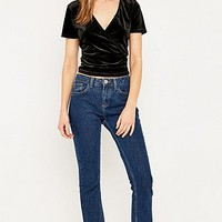 Urban Renewal Vintage Remnants Black Velvet Wrap Top - Urban Outfitters