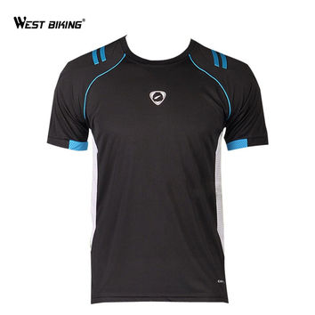 WEST BIKING 2017 Men's T-Shirt Road MTB Bike Bicycle Cycling Jerseys Breathable Anti-Sweat Outdoor Cycling Jersey Clothing