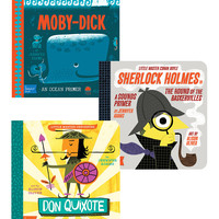 BabyLit Don Quixote, Moby Dick & Sherlock Holmes Board Book Set   zulily