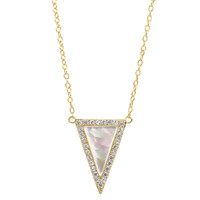 Natural Stone Triangle Necklace