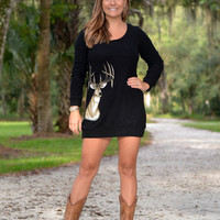Black Deer Sweater Dress
