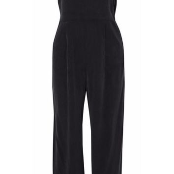Nicolle off-the-shoulder ruffled washed-silk jumpsuit | L'AGENCE | Sale up to 70% off | THE OUTNET
