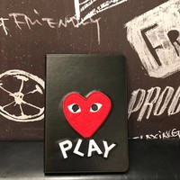 Comme des Garcons PLAY 2018 New Fashionable iPad Case Cover F-OF-SJK Black