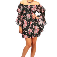Rose Romance Dress | Off Shoulder Dress at Pink Ice