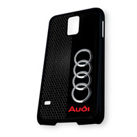 Audi logo on a field of Black Samsung Galaxy S5 Case