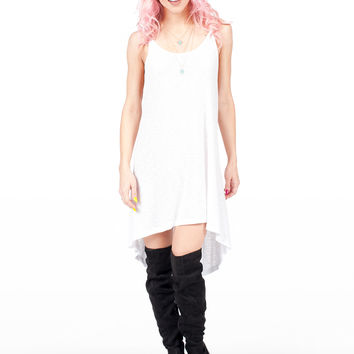 White Loose Tank Dress