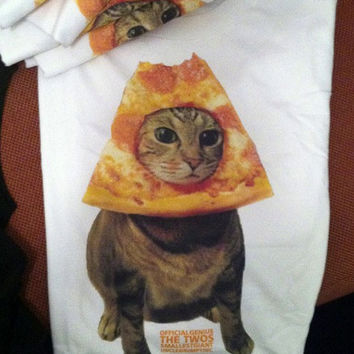 PIZZACAT the original Pizza Cat TEE the viral meme in shirt form WOW everyday is a pizza party