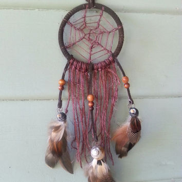 Handmade Small Traditional Dream- Catcher Whispers on the Breeze-