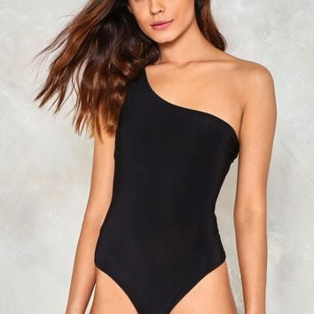Come Back Baby One Shoulder Bodysuit