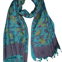 Womens Fashion Silk Printed Scarves Scarf Pareo Wraps Stole Indi Boho Style
