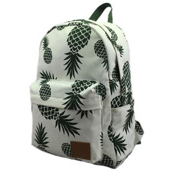 Lightweight Pineapple Backpack Travel Bag Watch Gift