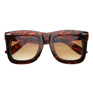 HOWARD OVERSIZED WAYFARER SUNGLASSES - TORTOISE