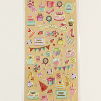 Birthday Party Sticker Sheet