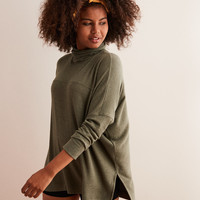Aerie Plush Turtleneck , Olive Fun