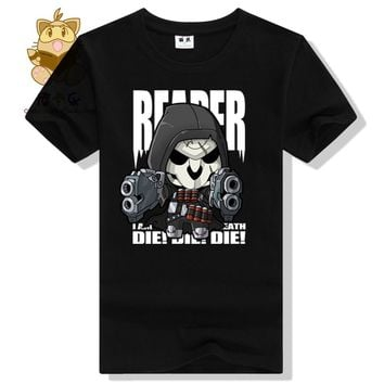 OW FANS lovely OW heros tee shirt Watch over REAPER printing t shirt  men's cotton tee shirt for gamer ac312