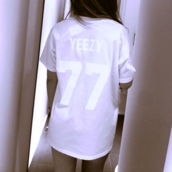 Hot YEEZY 77 SHORT SLEEVE White TOP