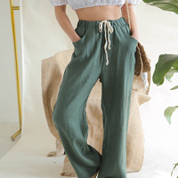 Loose Drawstring Waist Pants