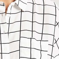 Grid Pattern Pocket Shirt