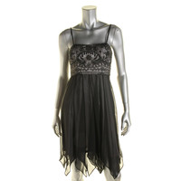 Sue Wong Womens Chiffon Prom Semi-Formal Dress