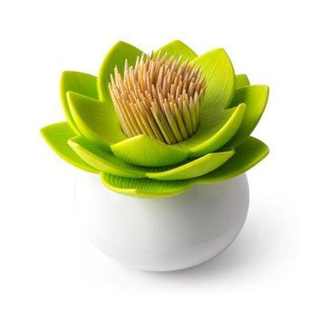 DCCKL72 Lotus Cotton swab box lotus cotton bud holder base room decorate / Lotus Toothpicks holder Toothpick case