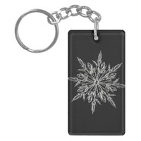 Perfect Snowflake for the Christmas Holiday Keychain