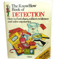 1978 Hardcover Edition, KnowHow Book of Detection, Vintage Childrens Book, Find Clues, Solve Mysteries, Usborne, Free Shipping