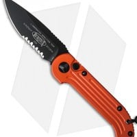 """Microtech LUDT Automatic Knife Orange (3.4"""" Black Serr) 135-2OR"""